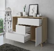 Buffet wind 120 cm color puccini / blanco