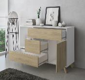 Buffet wind 120 cm color blanco / puccini