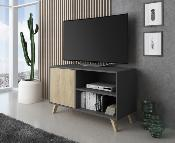 Mueble TV wind 100 cm Color gris antracita / puccini