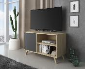 Mueble TV wind 100 cm Color puccini / gris antracita